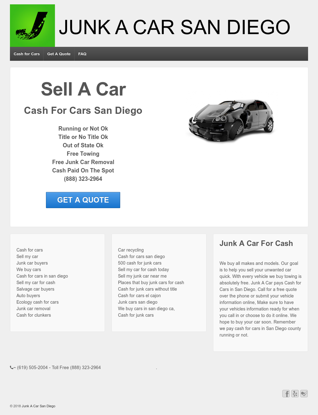 Junk A Car San Diego - We Pay Cash For Cars Competitors, Revenue and ...