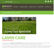 Weiss Lawn Care Inc And Snow Removal S Website Screenshot On Mar 2017