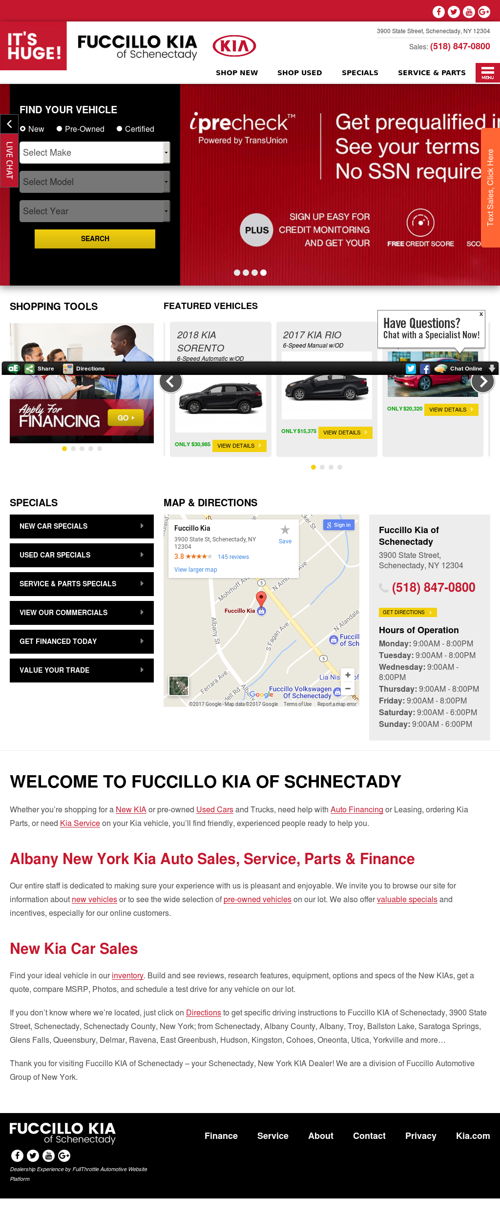 Fuccillo Kia Website History