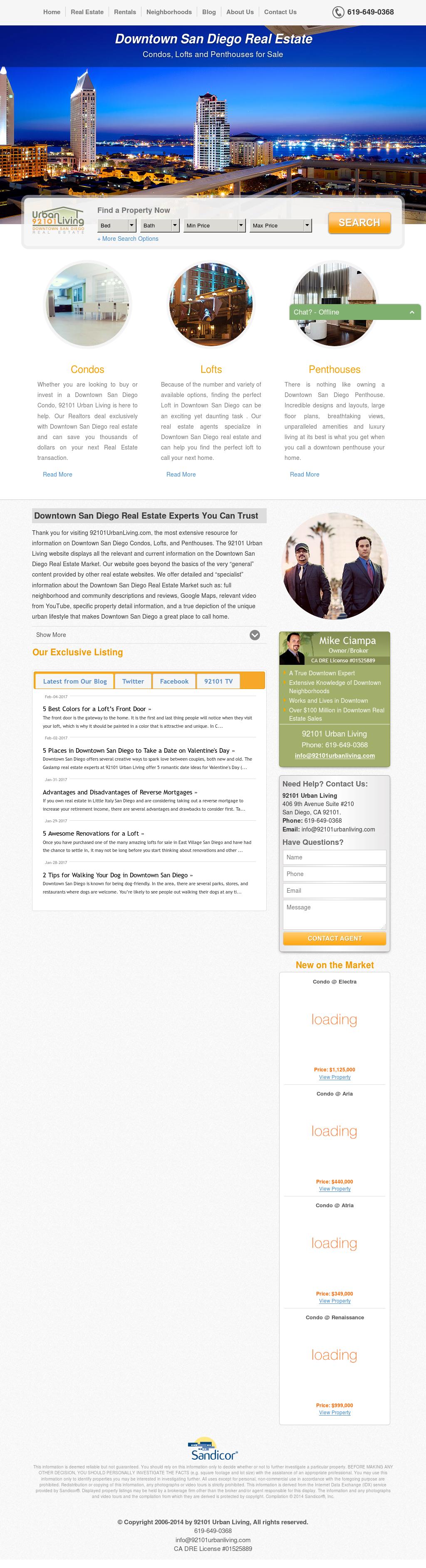 Urban 92101 Livingu0027s Website Screenshot On Feb 2017