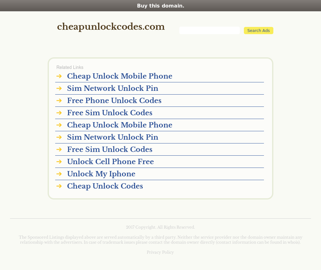 Cheap Unlock Codes Competitors, Revenue and Employees
