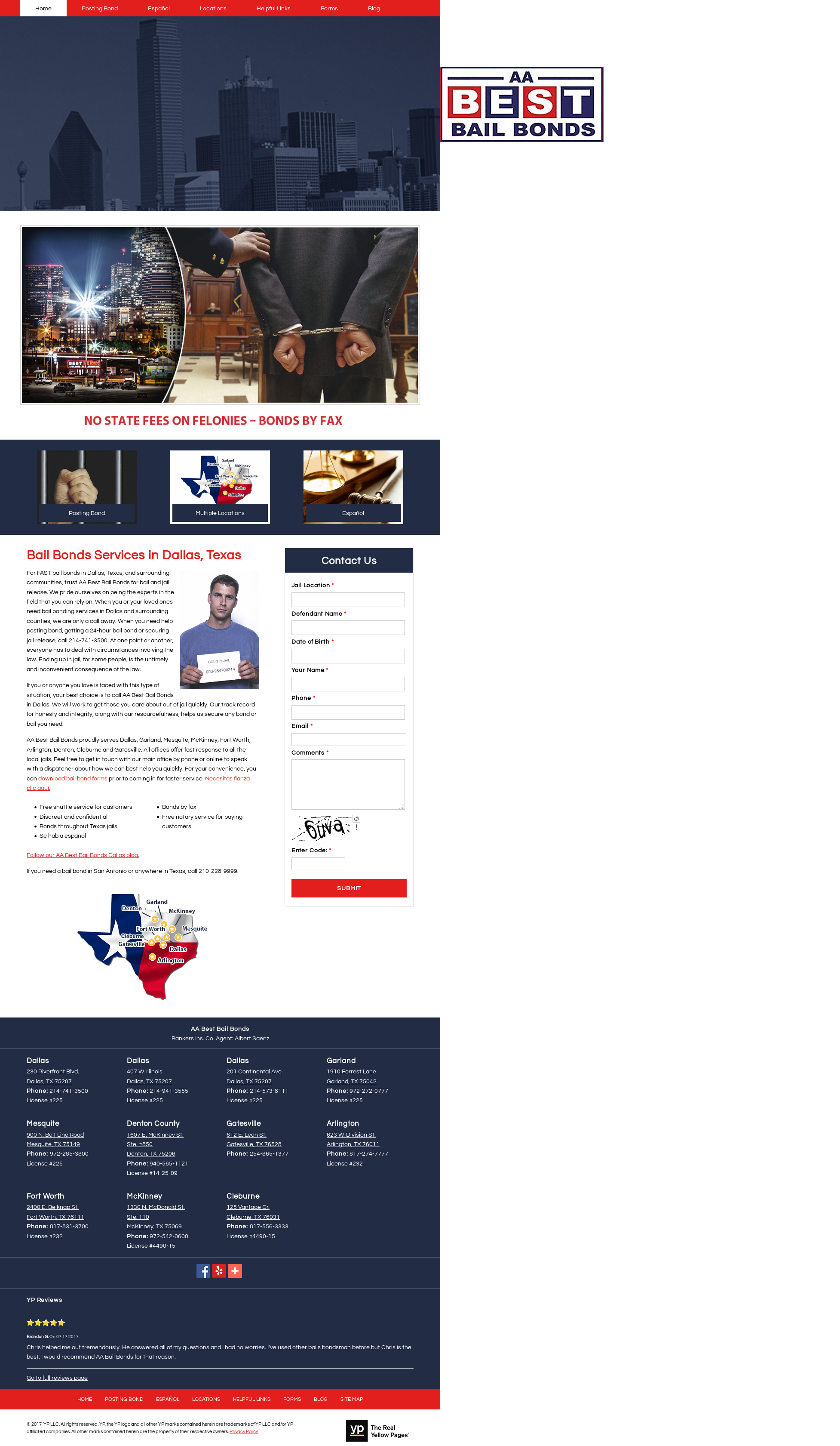 Aa Best Bail Bonds Website History