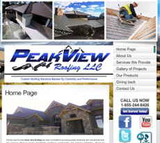 Awesome Peak View Roofing Website History