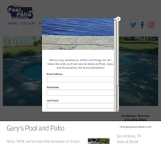 Garyu0027s Pool And Patiou0027s Website Screenshot On ...