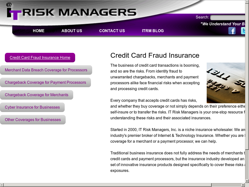 Credit card fraud insurance for business gallery business card it risk managers competitors revenue and employees owler company colourmoves