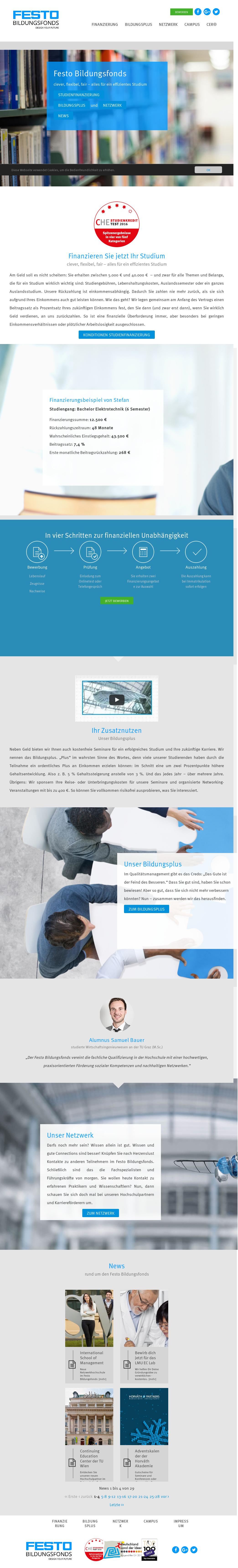 festo bildungsfond website history - Festo Bewerbung