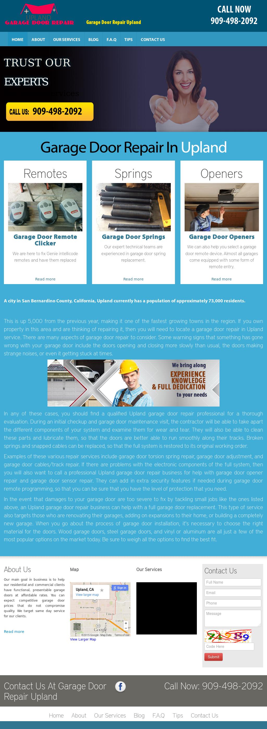 Charmant Garage Door Repair Upland Website History