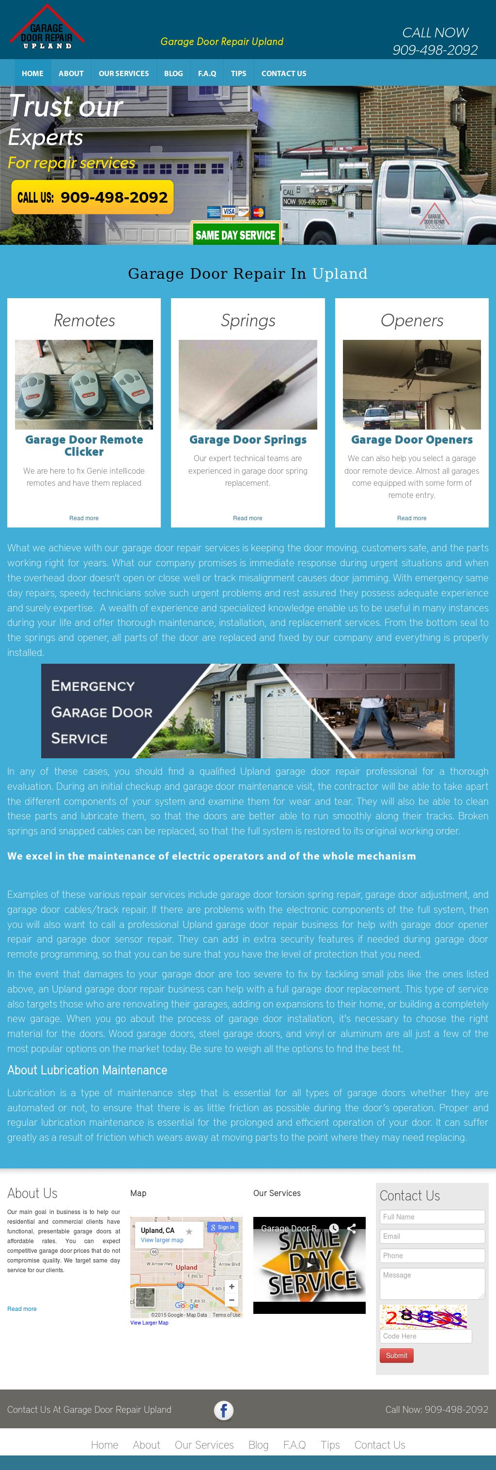 Garage Door Repair Upland Website History