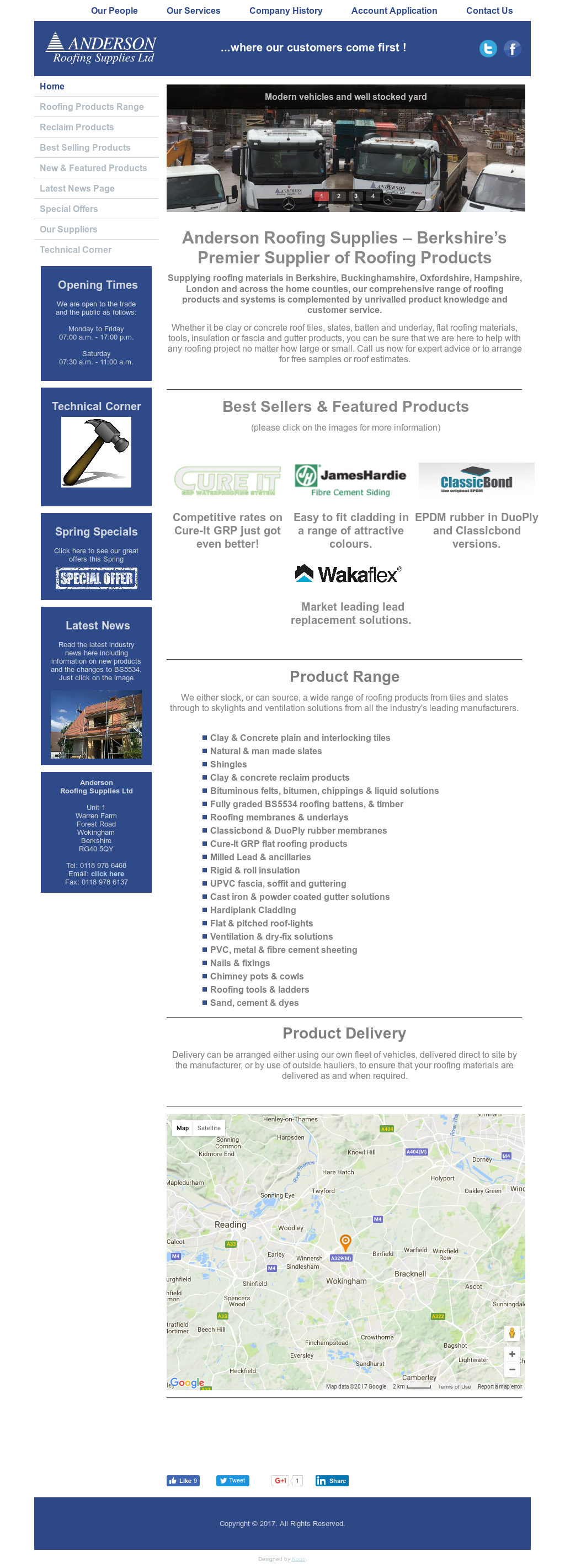 Anderson Roofing Supplies Competitors Revenue And