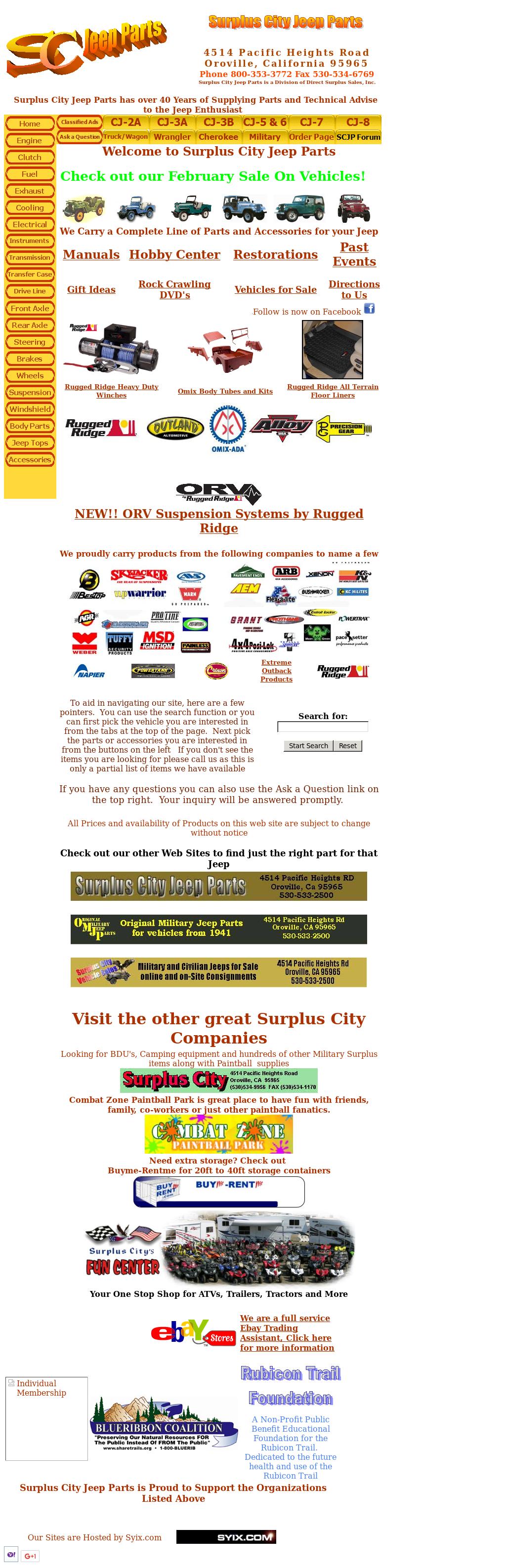 Cj Jeep Website History