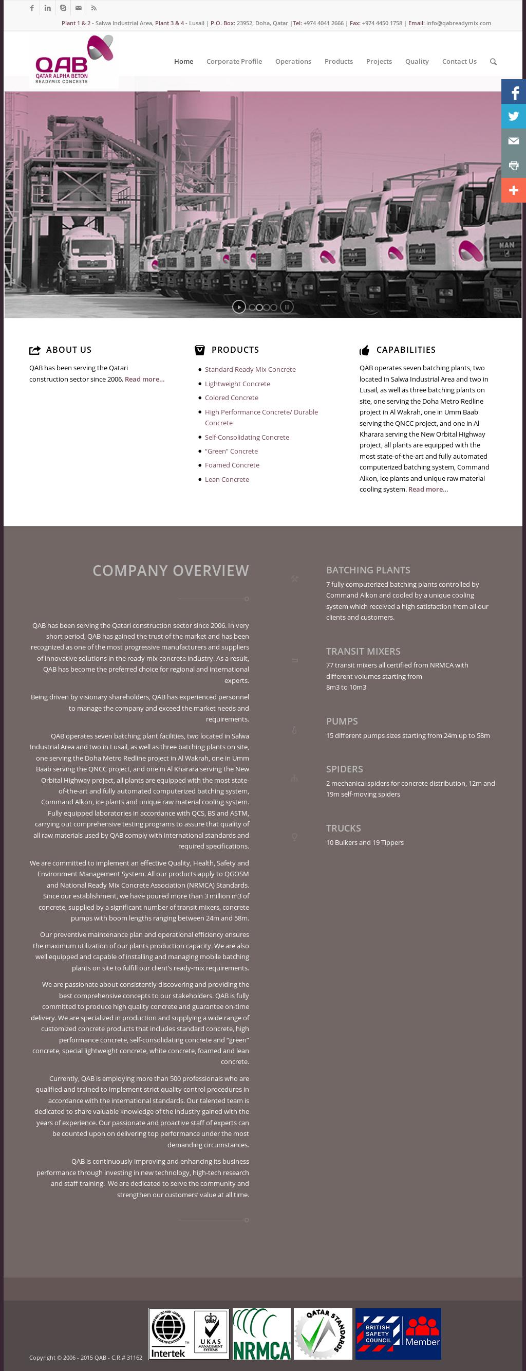 Qatar Alpha Beton Readymix Concrete Competitors, Revenue and
