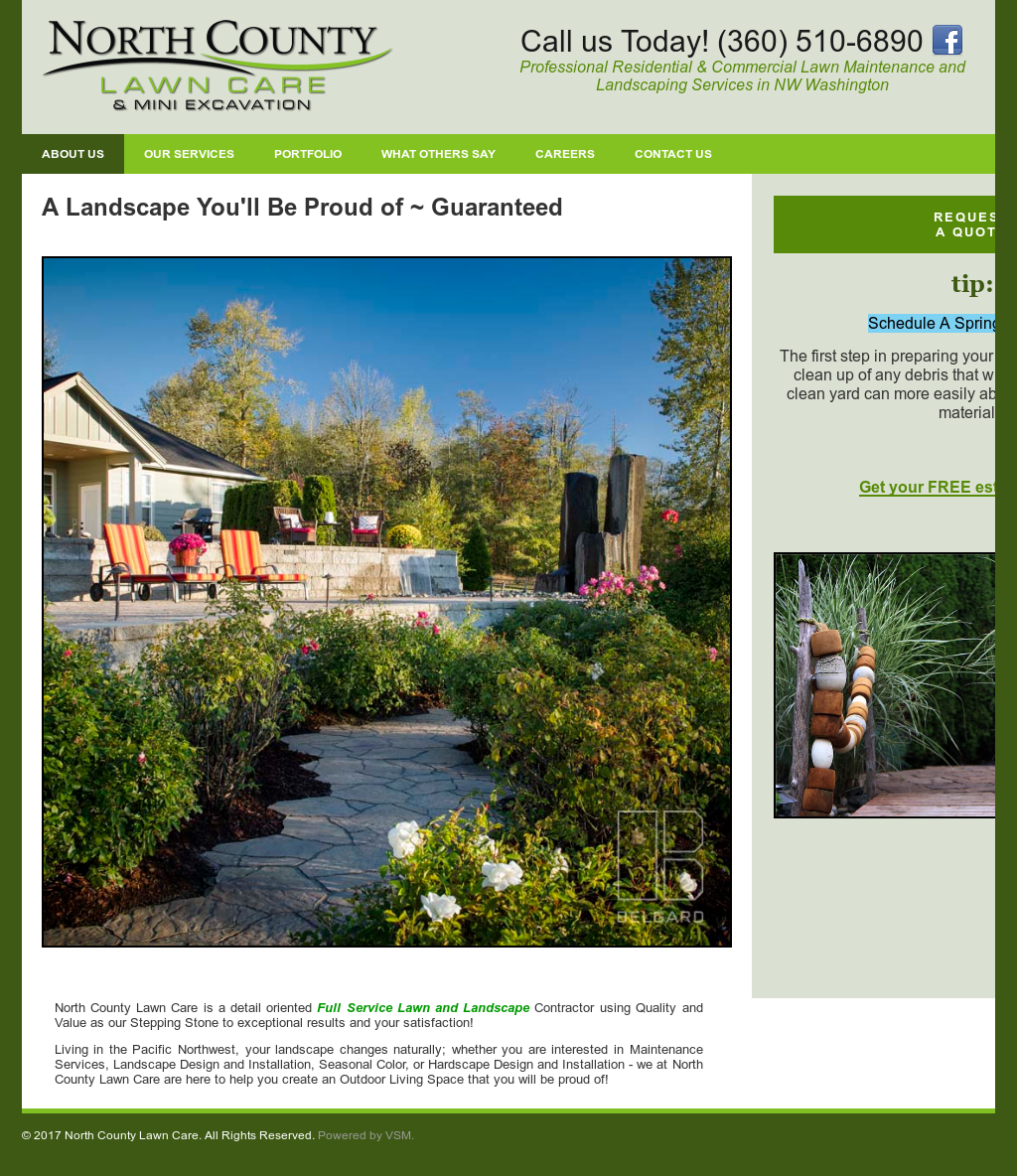 North County Lawn Care Website History