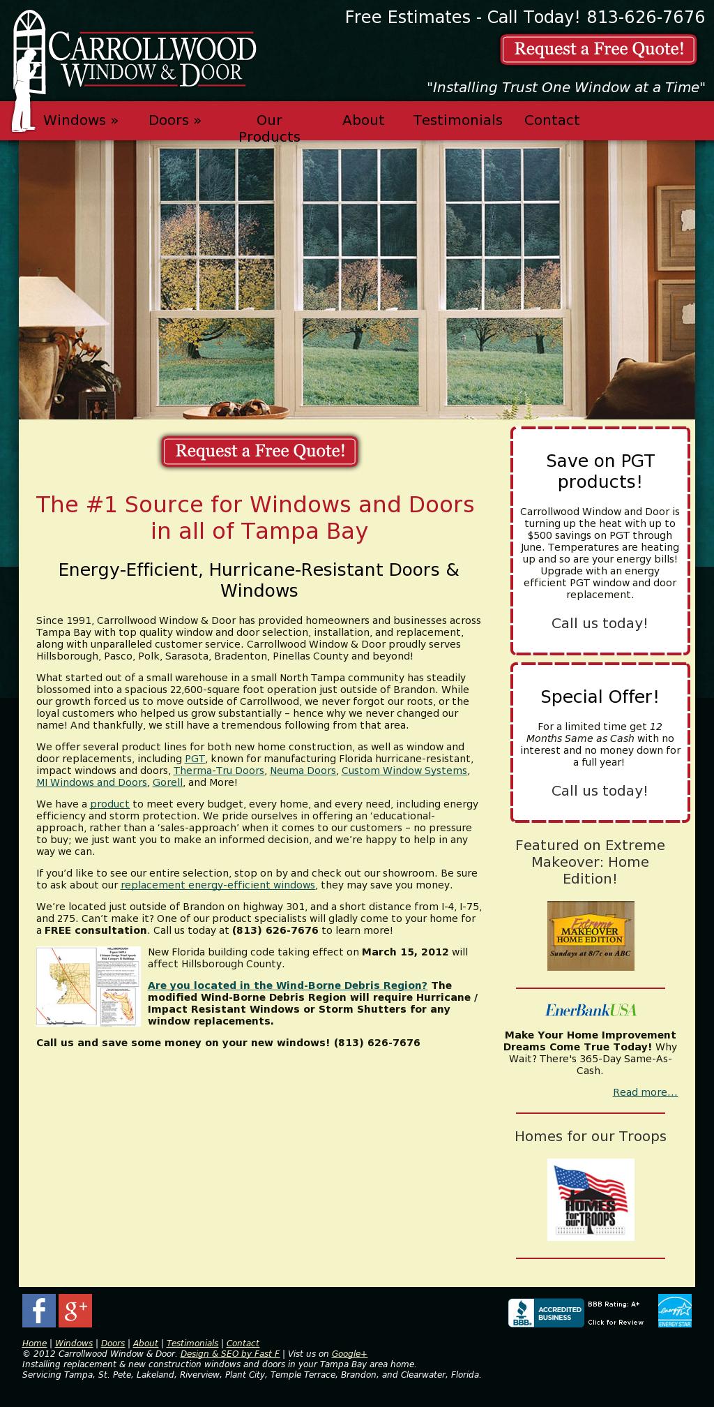 Carrollwood Window Door Compeors Revenue And Employees