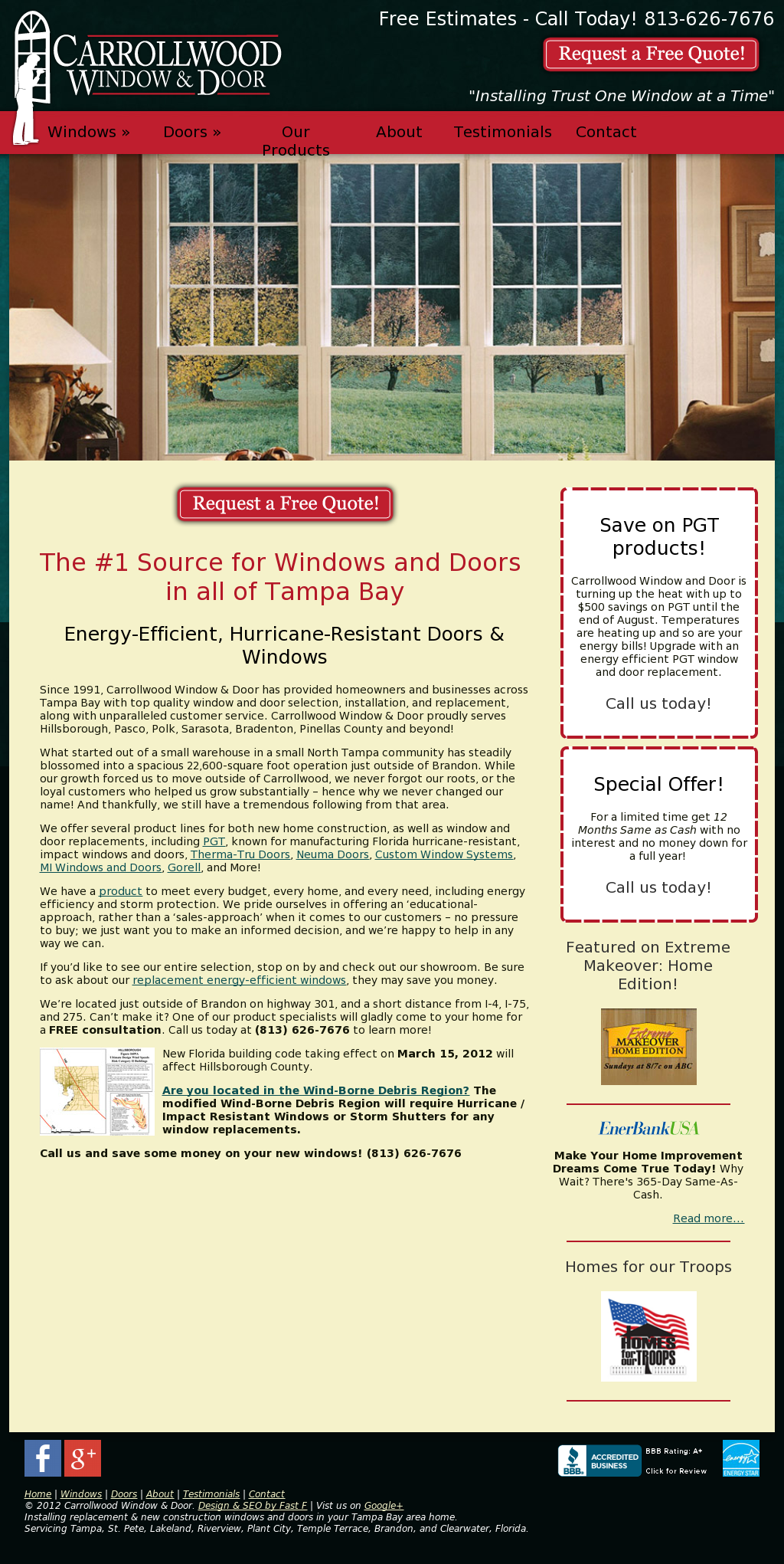 Carrollwood Window Door Compeors Revenue And Employees Owler Company Profile