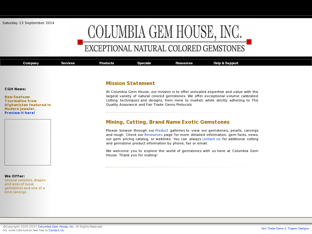 Columbia Gem House Competitors, Revenue and Employees