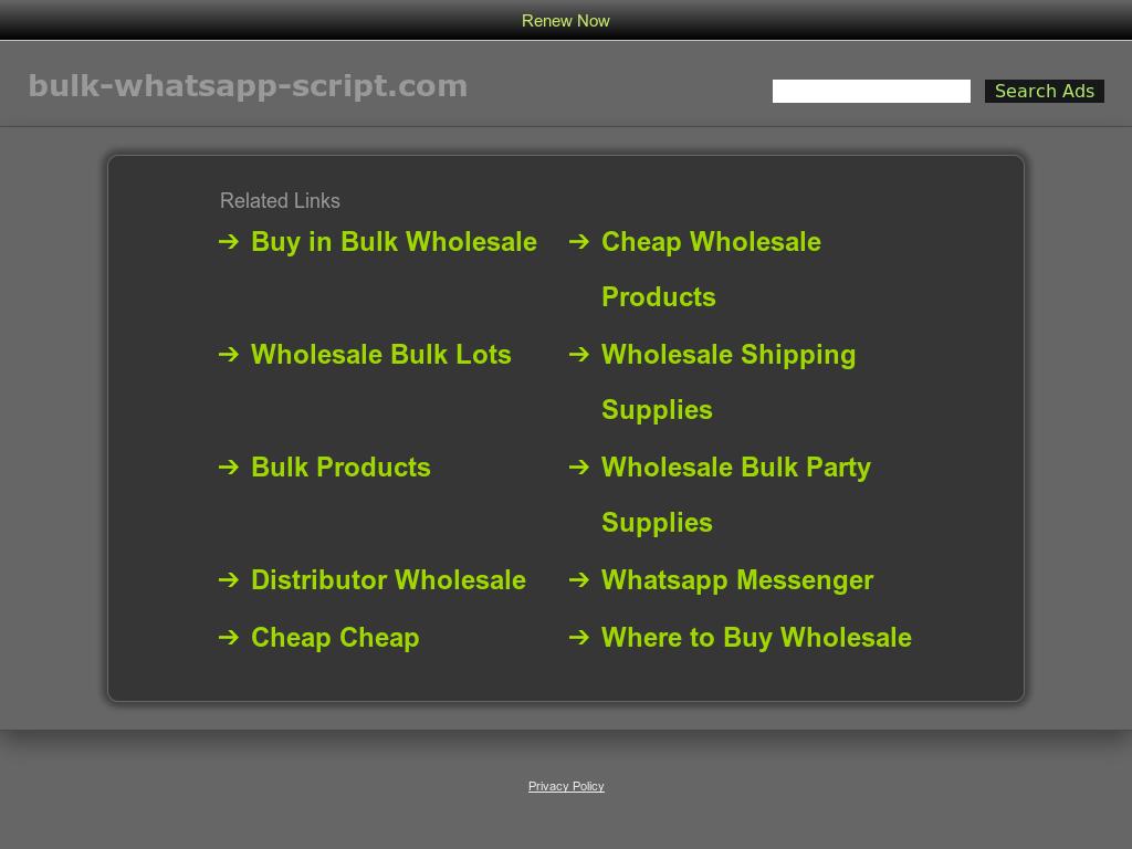 Bulk whatsapp script Competitors, Revenue and Employees