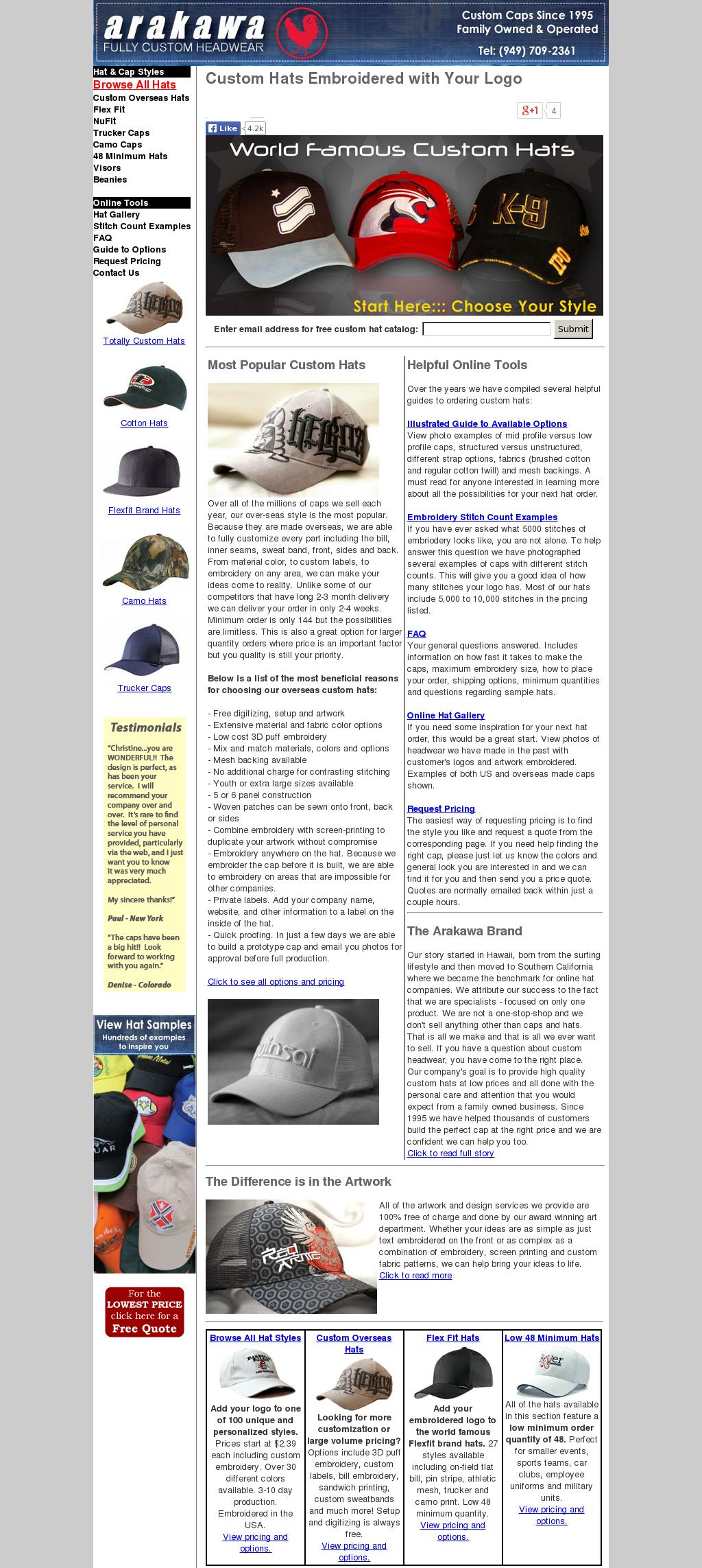 a428aa03 Arakawa Custom Hats Competitors, Revenue and Employees - Owler Company  Profile