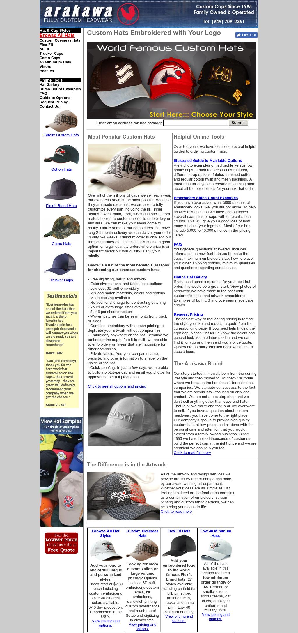 Arakawa Custom Hats Competitors, Revenue and Employees - Owler