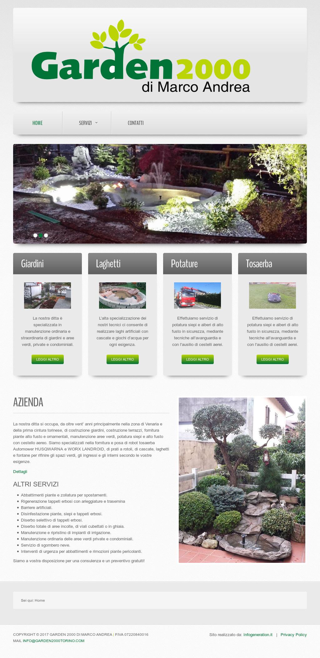 Garden 2000 costruzione giardini a torino piante for Costruzione giardini