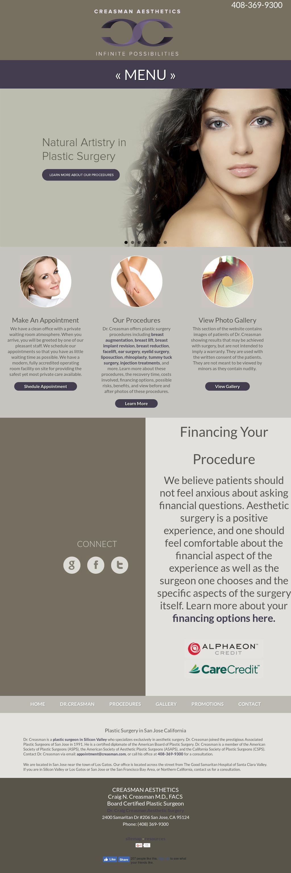 Dr  Craig Creasman: Aesthetic Surgery For Silicon Valley