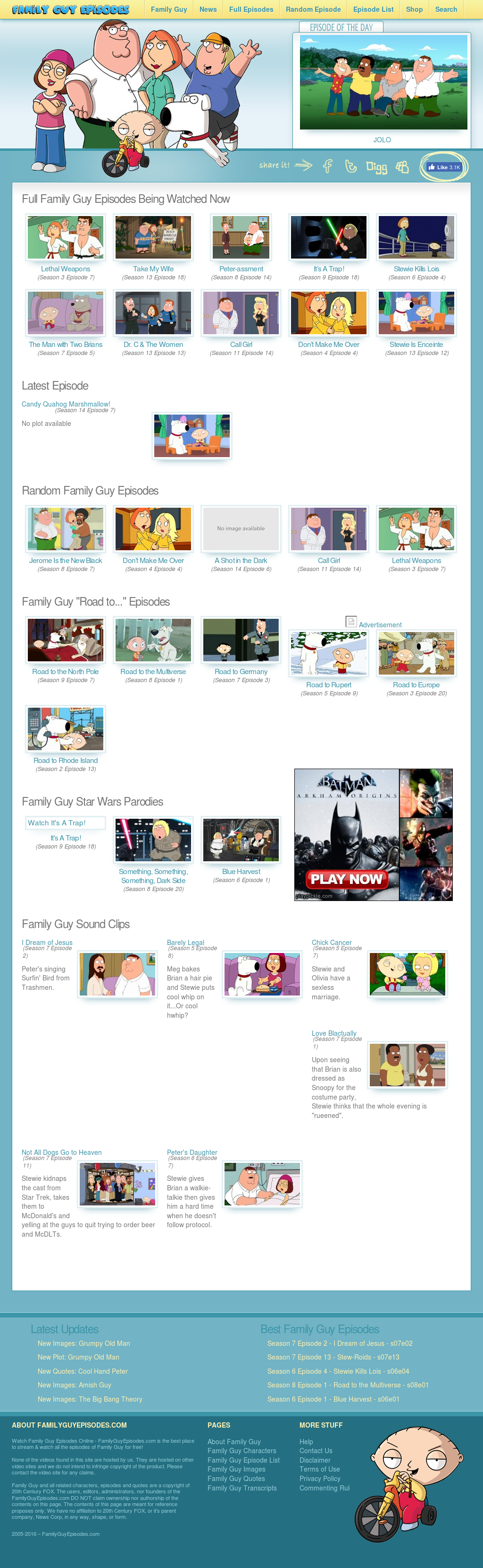 Family Guy Episodes Competitors, Revenue and Employees