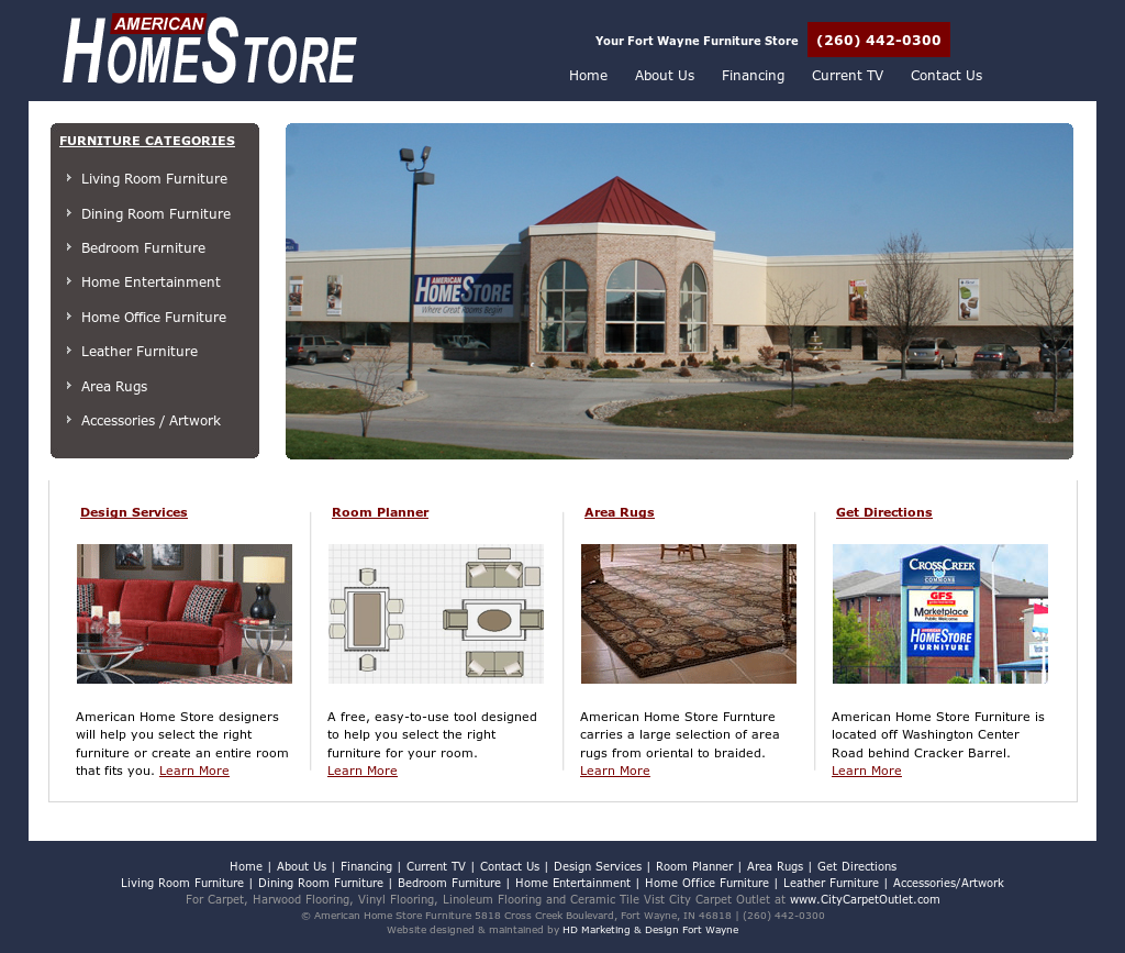 American Home Store Furniture Website History