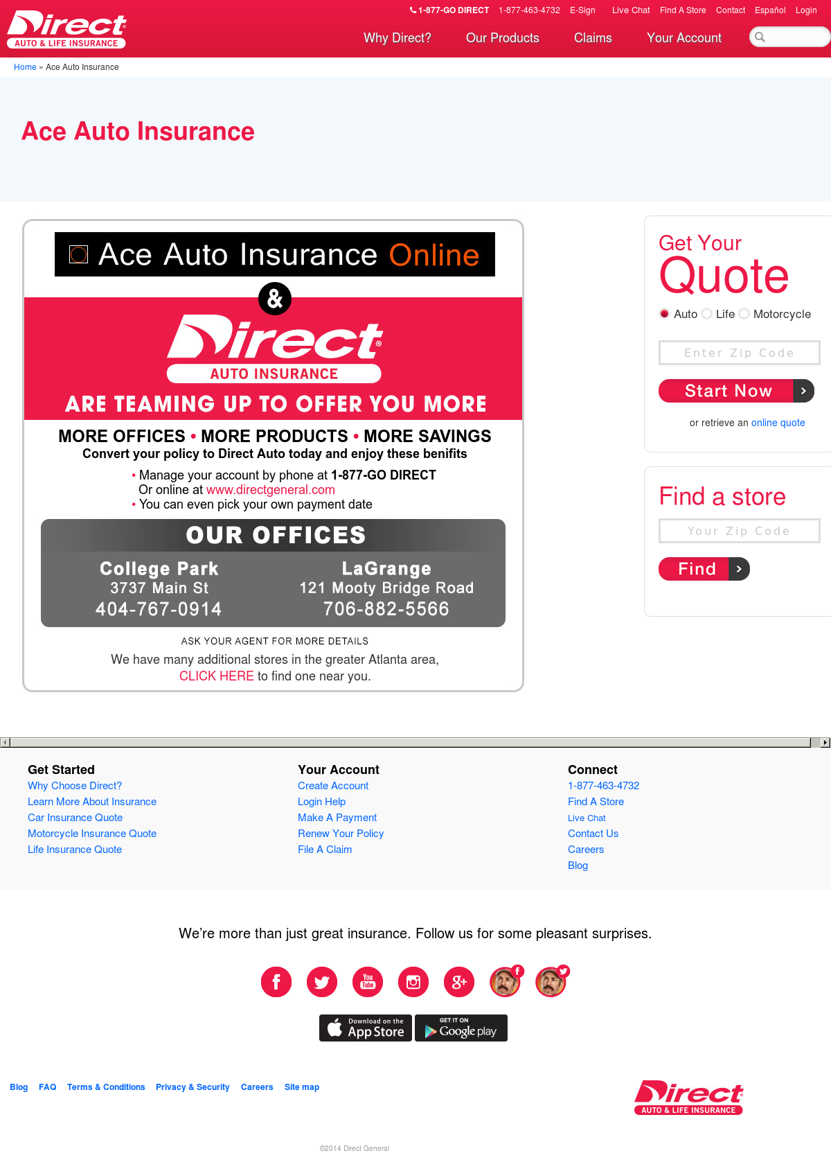 ace auto insurance competitors revenue and employees owler company profile