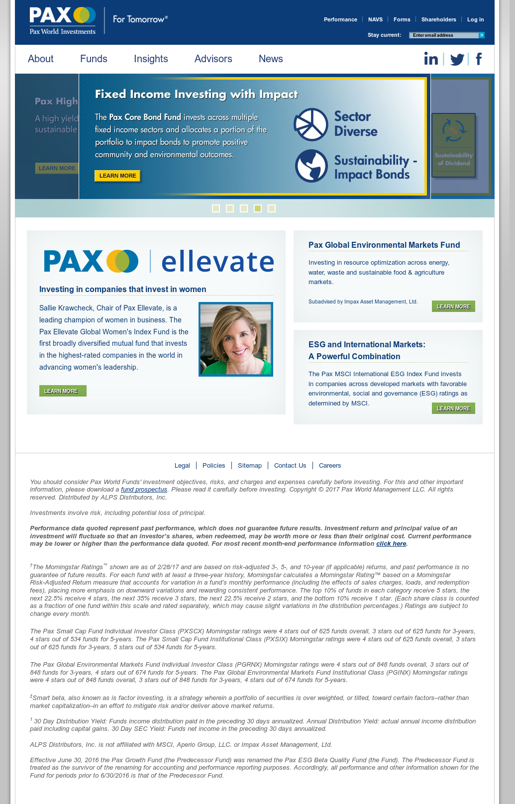 Pax World Investments Competitors, Revenue and Employees