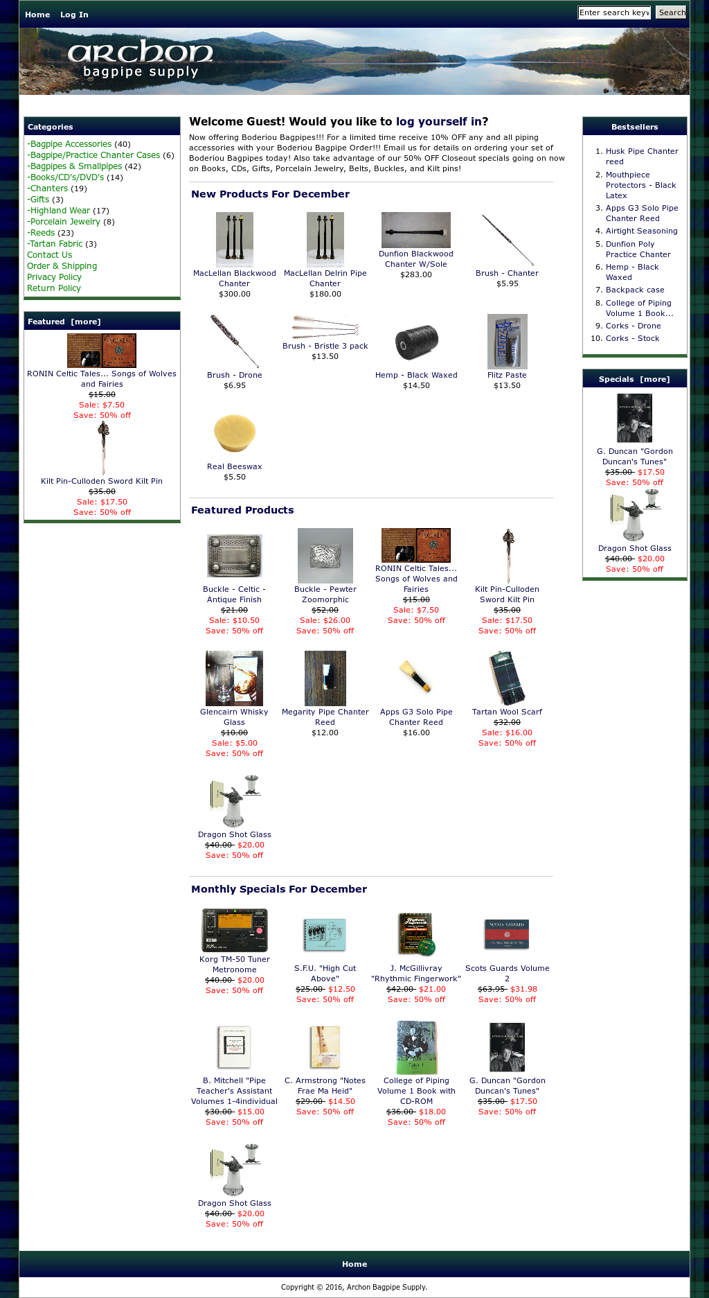 Archon Bagpipe Supply Competitors, Revenue and Employees