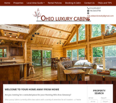 Ohio Luxury Cabins Website History