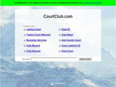 Court Club website history