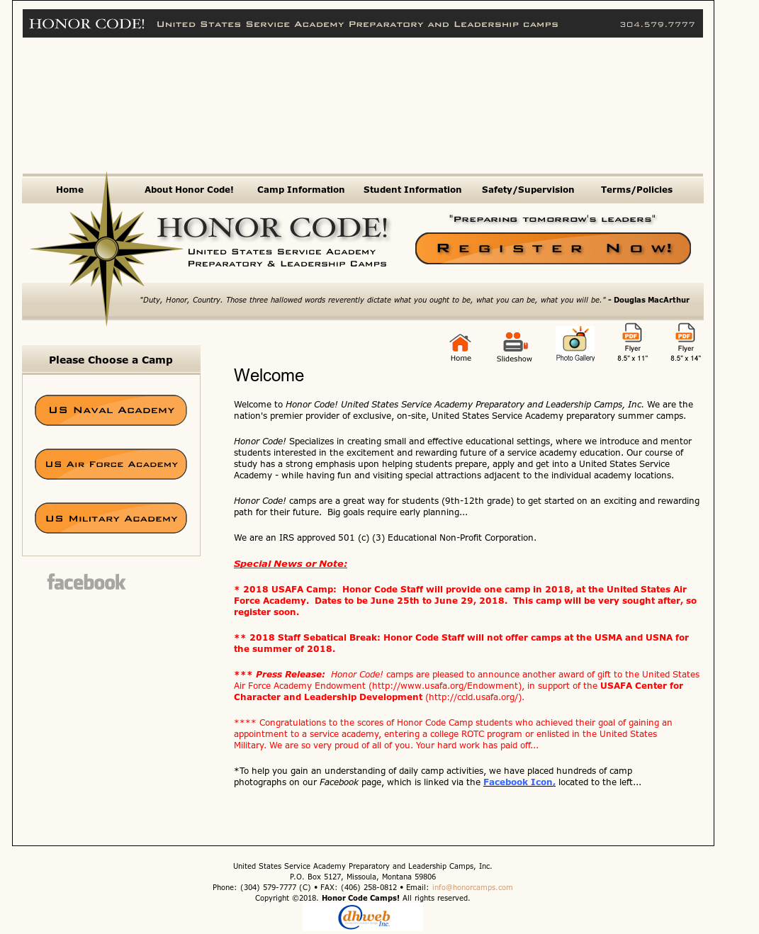 Honor Code! United States Service Academy Preparatory And