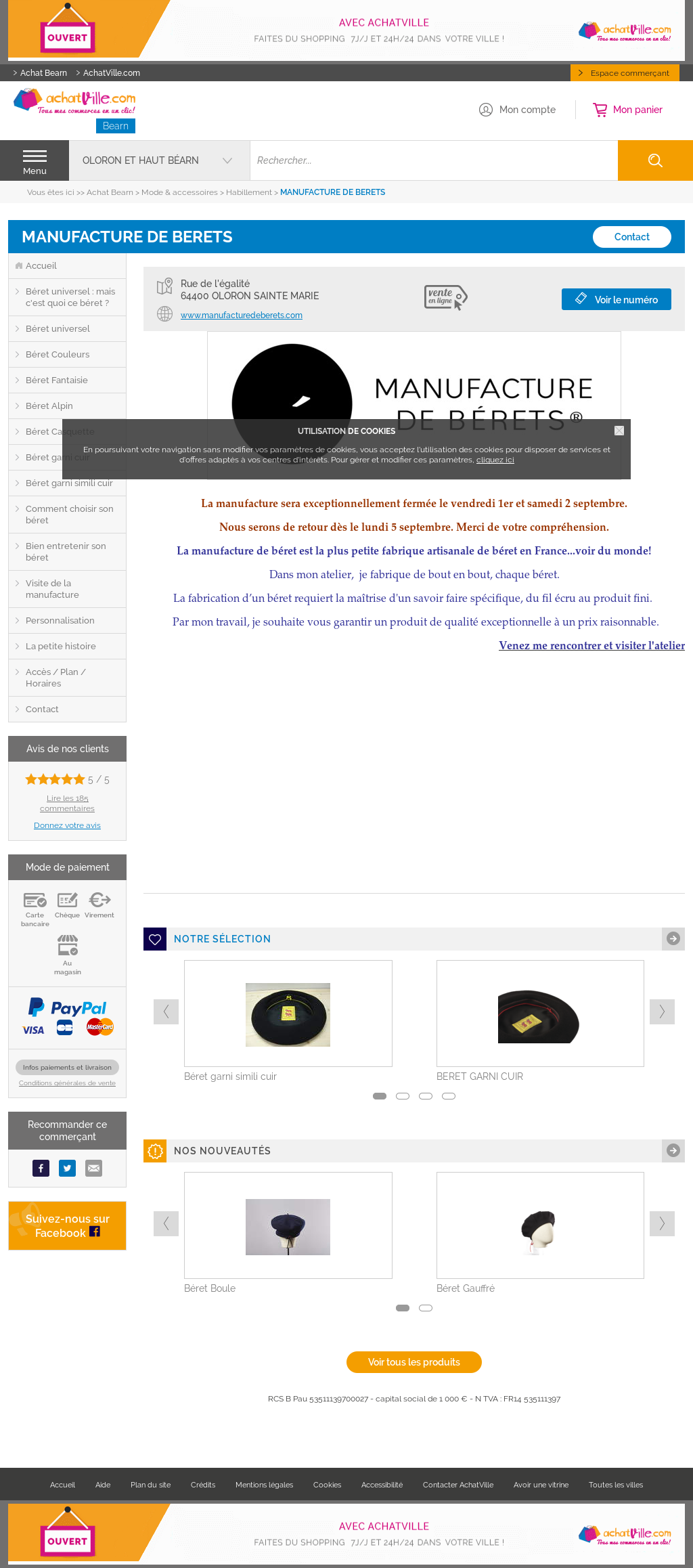Manufacture De Berets Boneteria Auloronesa Competitors, Revenue and ...