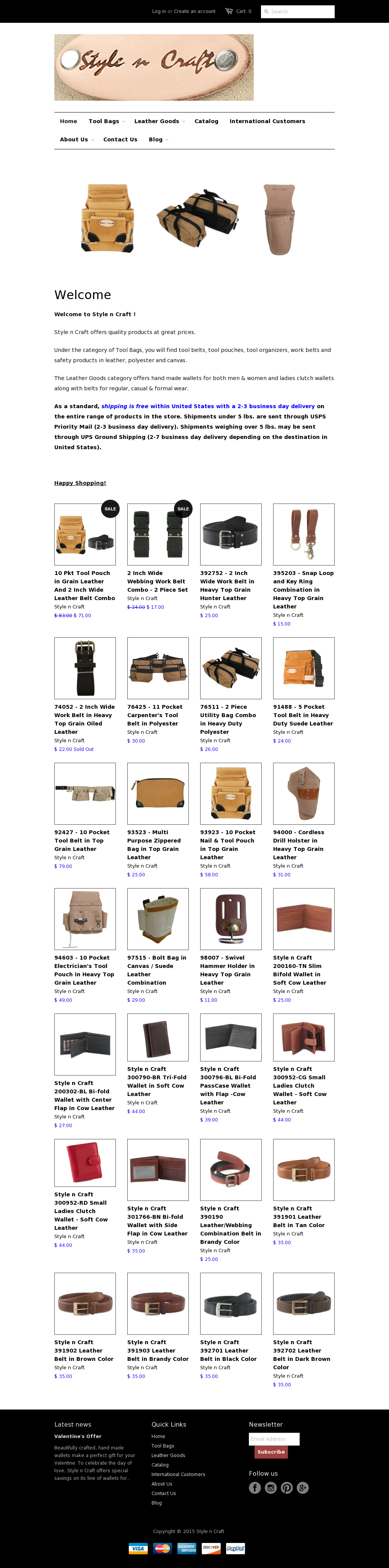 Style n Craft  91488-5 Pkt Carpenter/'s Tool Belt in Heavy Duty Suede Leather