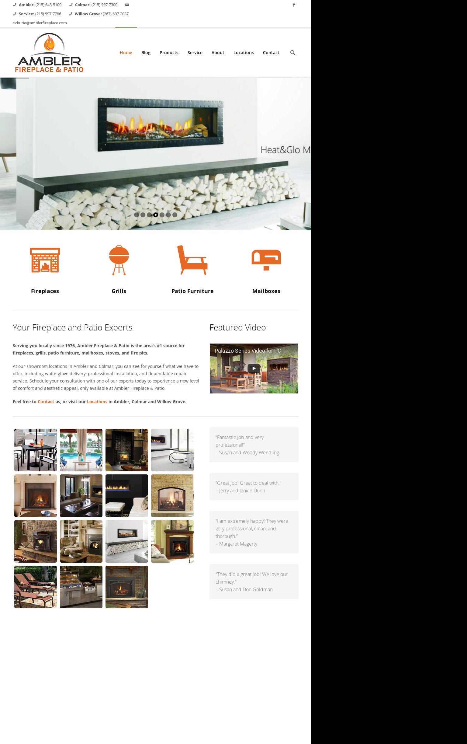 Ambler Fireplace And Patio S Website Screenshot On Feb 2017
