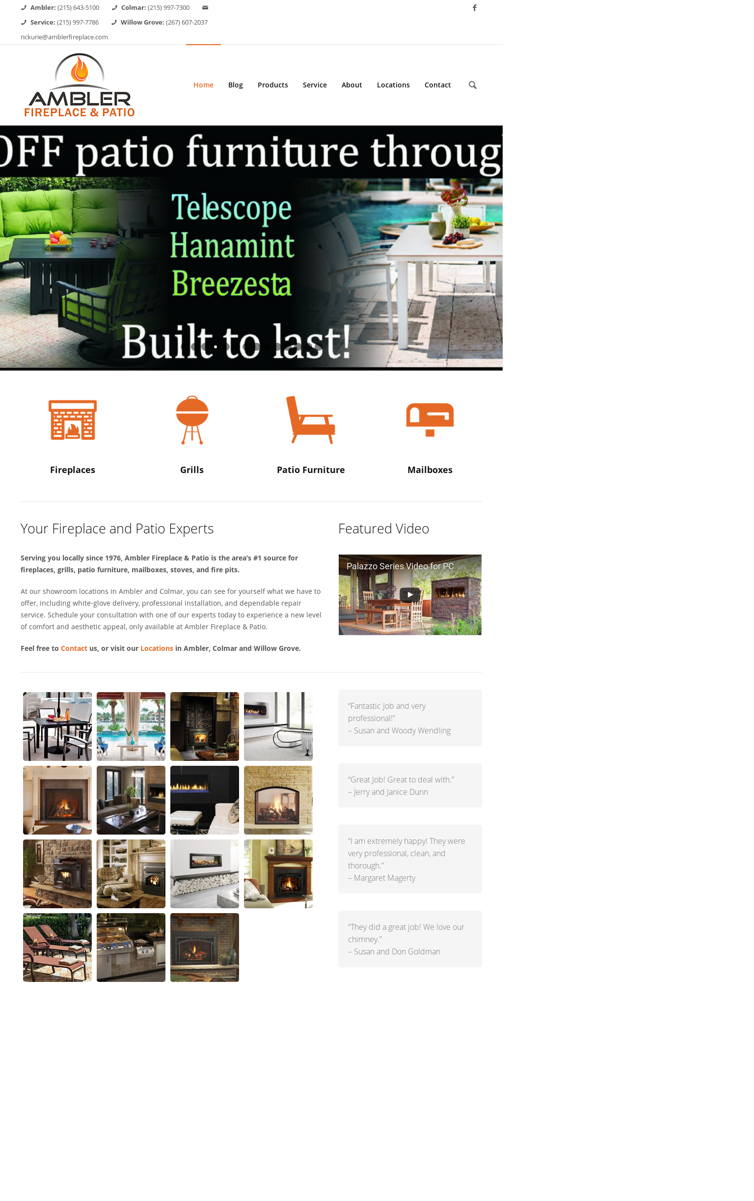 Charmant Ambler Fireplace And Patio Website History
