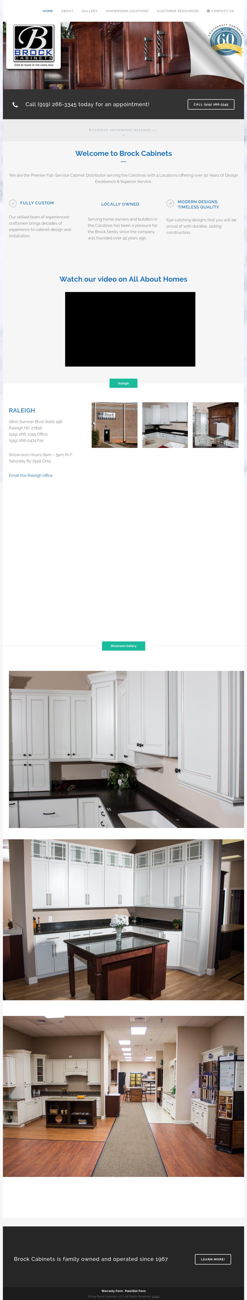 Brock Cabinets Website History
