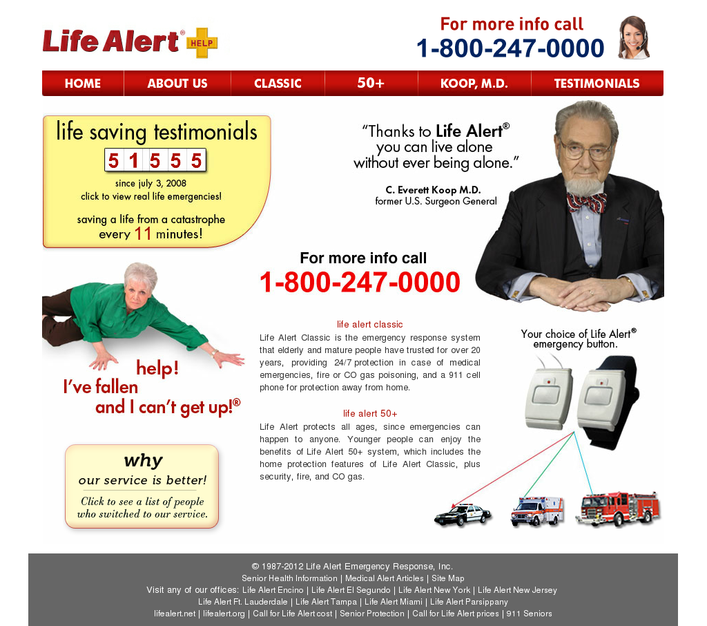 Life Alert Emergency Response Competitors Revenue And Employees