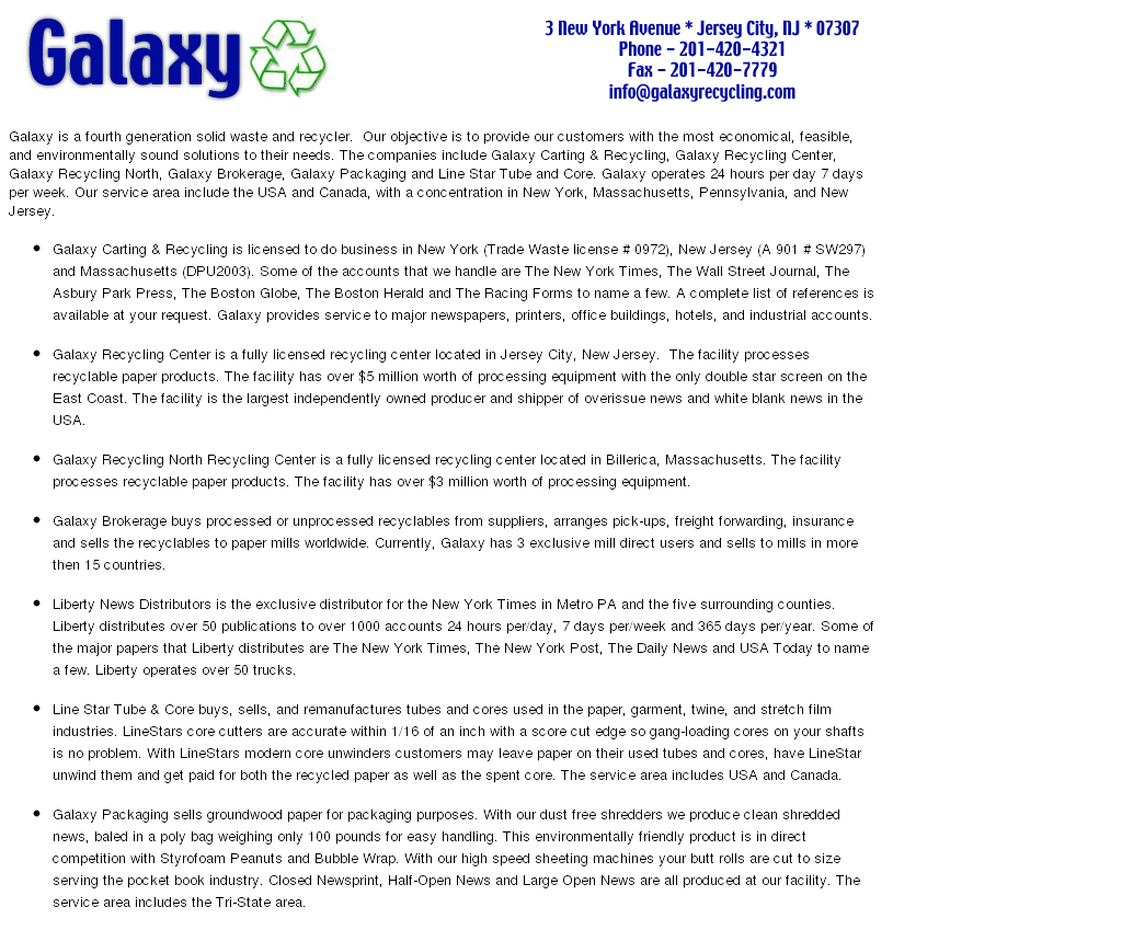 Galaxy Recycling Competitors, Revenue and Employees - Owler