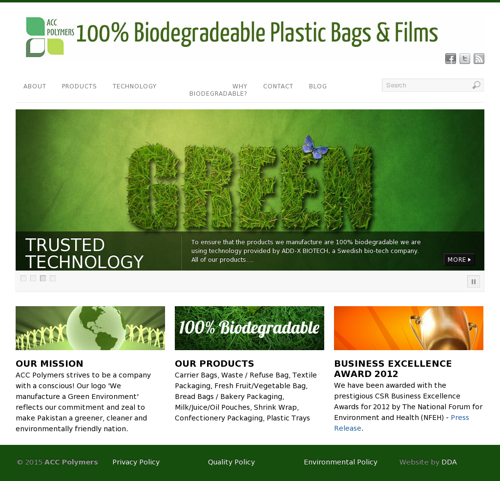 Acc Polymers - 100% Biodegradable Plastic Bags And Films