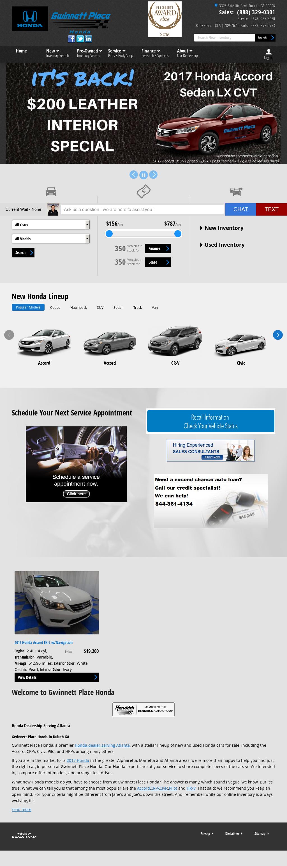 Gwinnett Place Honda   Atlanta Honda Dealer Website History