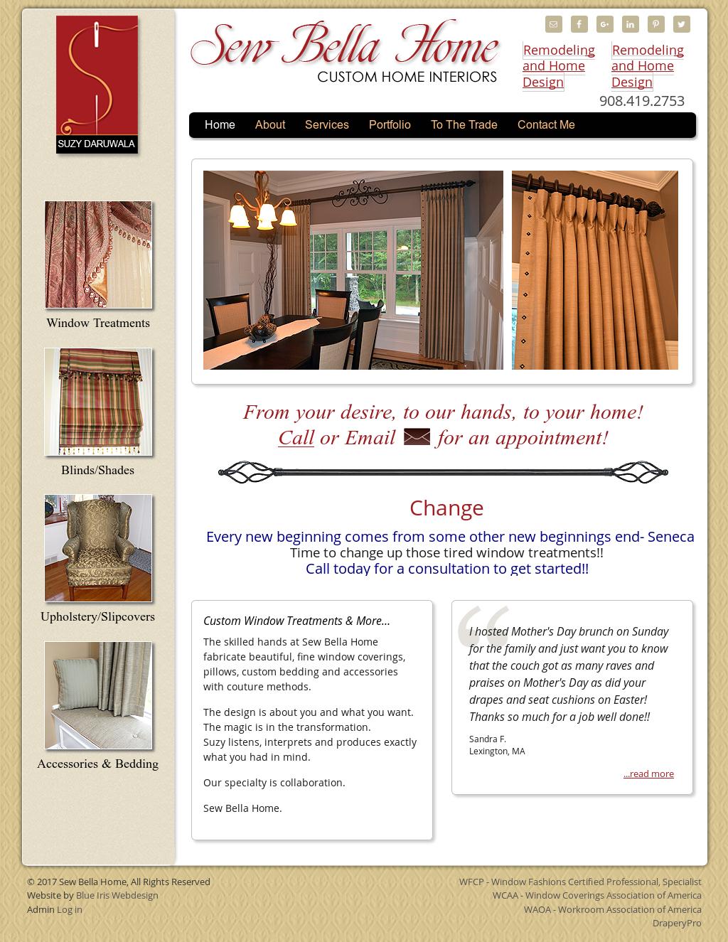 Sew Bella Home Website History