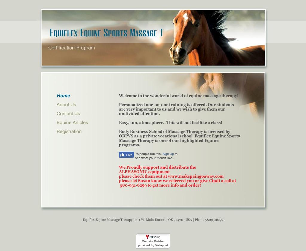 Equiflex Equine Sports Massage Therapy Certification Program