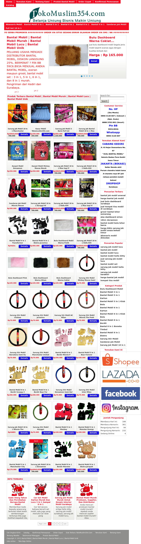 Jual Bantal Mobil's website screenshot on Jun 2017