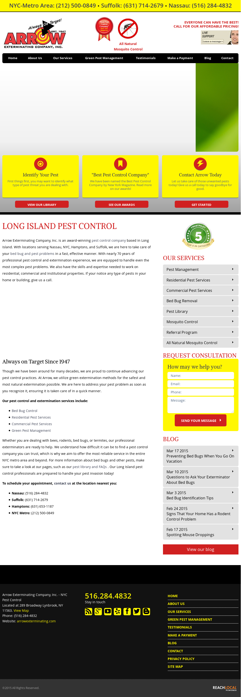 Arrowexterminating Compeors Revenue And Employees Owler Company Profile