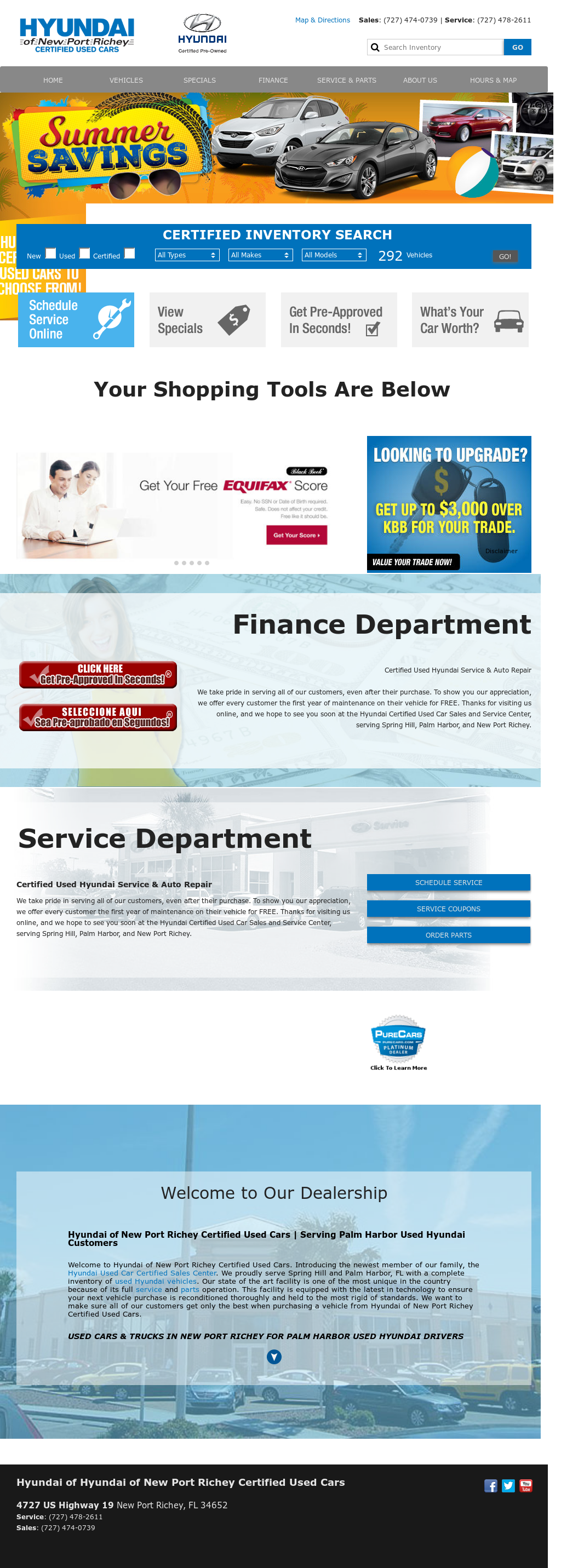 Hyundai Of New Port Richey Website History
