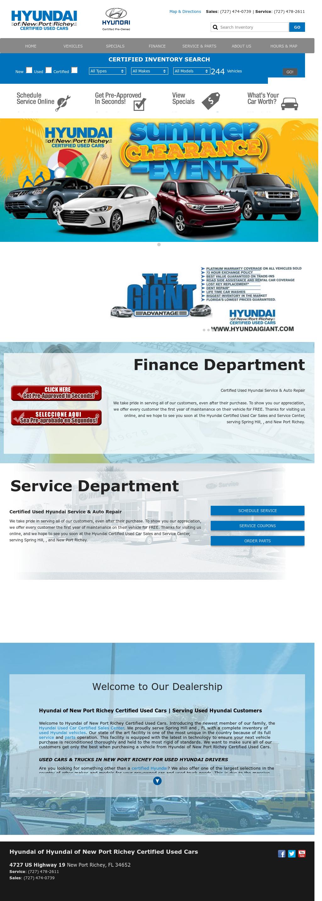 Hyundai New Port Richey petitors Revenue and Employees