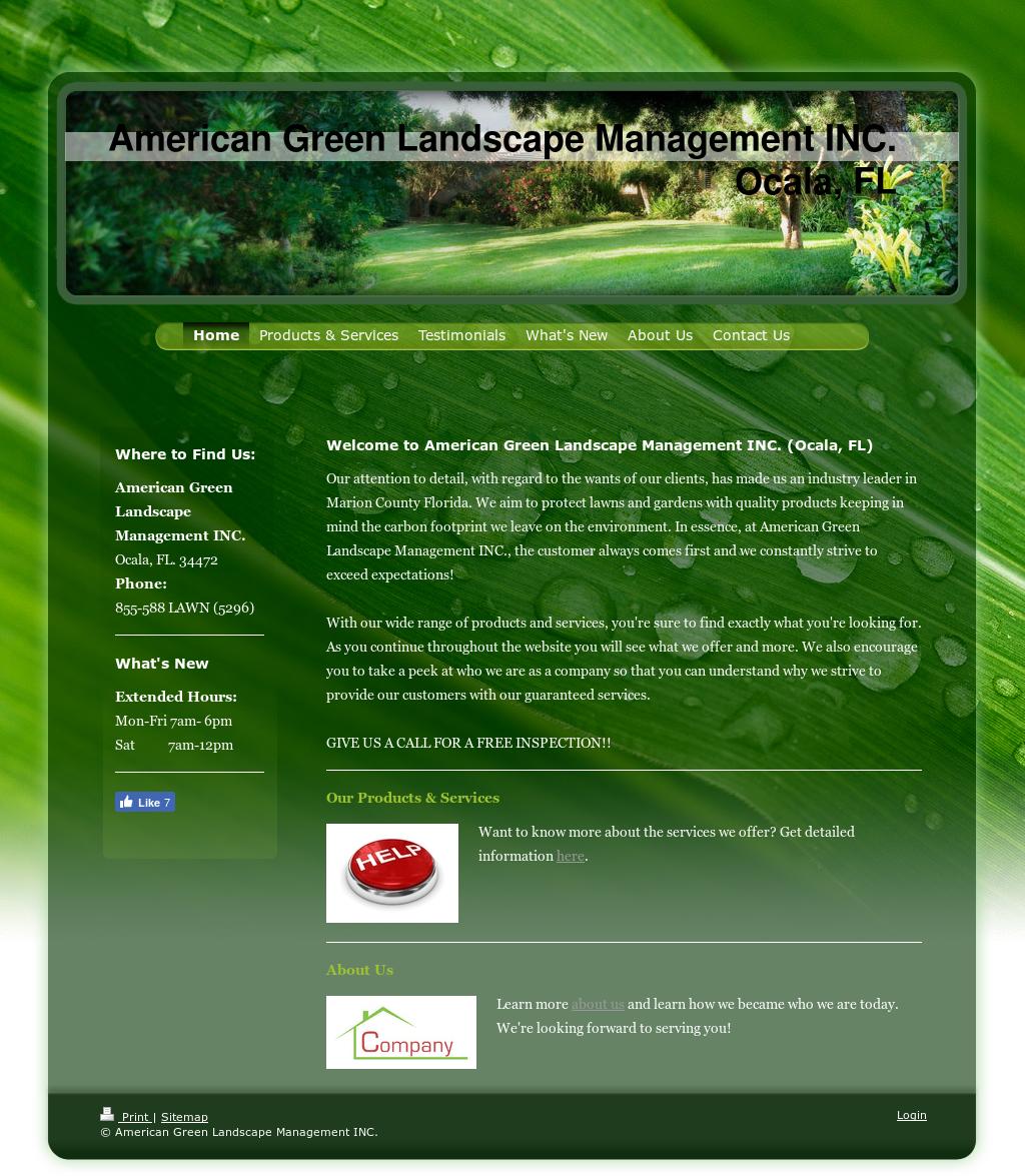 American green landscape management competitors revenue for American garden company