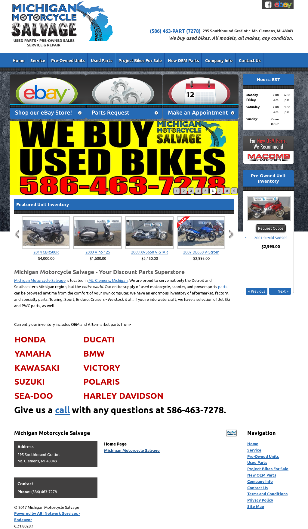 96dd70e7555 Michigan Motorcycle Salvage Competitors
