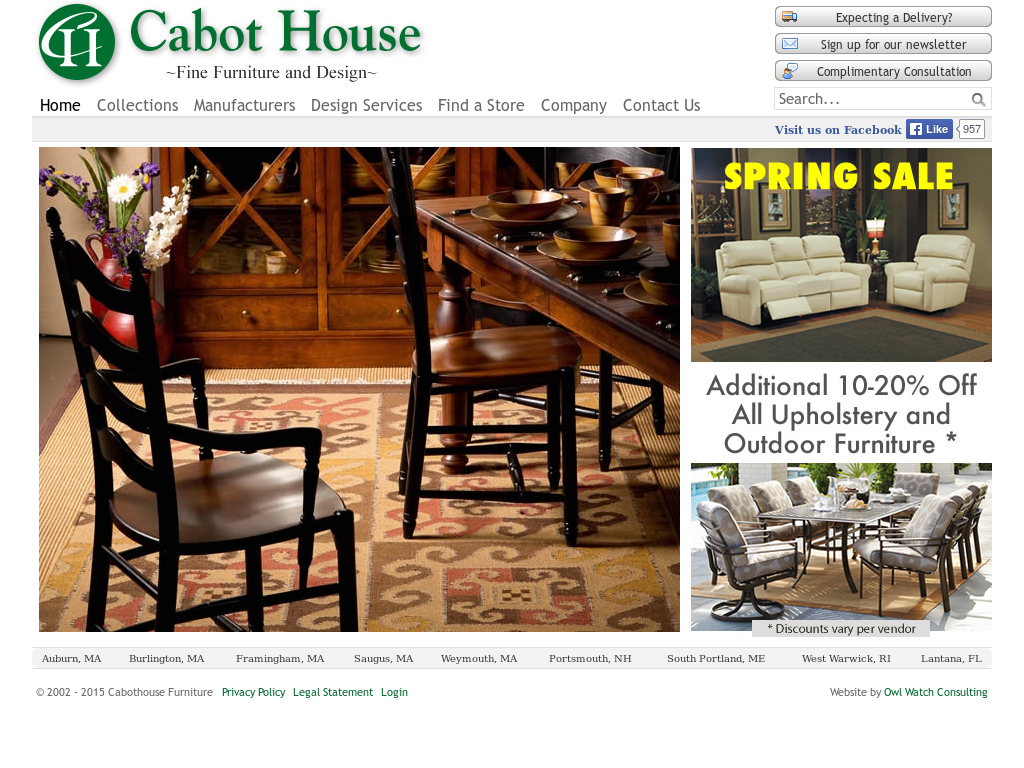 Cabothouse Furniture Competitors, Revenue And Employees   Owler Company  Profile